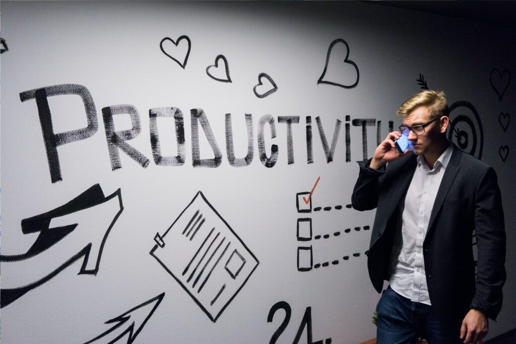 Productivity within business.